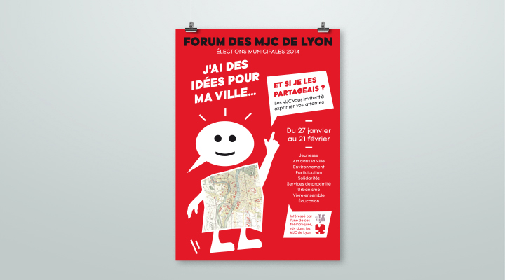 Affiche forum des MJC de Lyon