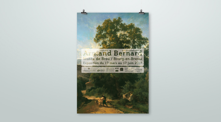 Affiche de l'exposition «Armand Bernard»